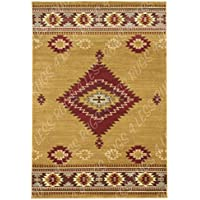 Rugs 4 Less Collection Southwest Native American Indian Area Rug Design Door Mat Area Rug R4L 219-60 Beige Berber Burgundy (2X4)