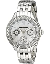 Tommy Bahama  Womens 10018329 Waikiki Dream Multifunction Crystal-Accented Stainless Steel Watch