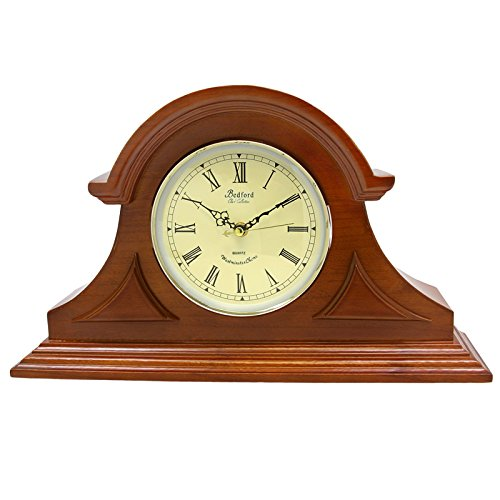 Bedford Clock Collection Mahogany Cherry Mantel Clock for sale  Delivered anywhere in USA