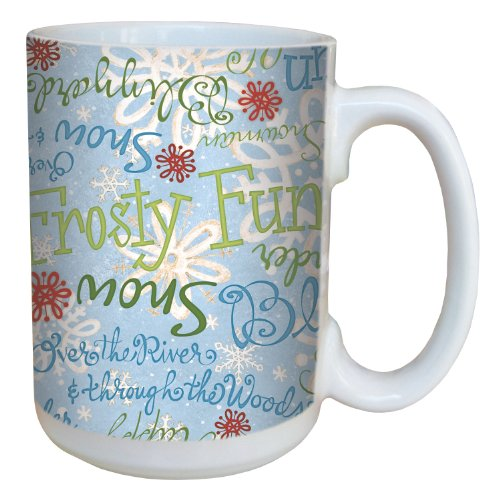Christmas Collectible Mug Theme - Tree-Free Greetings 79315 Winter Giftwrap by Debbie Mumm Ceramic Mug with Full-Sized Handle, 15-Ounce