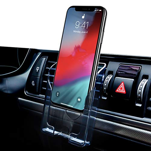 Car Phone Mount Air Vent Lightweight Plastic Holder Bottom with Silicone Prevent Scrath for Phone,Decoration or Storage