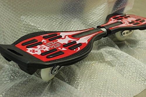 DiversitySport - Monopatín waveboard con luces intermitentes en las ruedas, Red With Design: Amazon.es: Deportes y aire libre