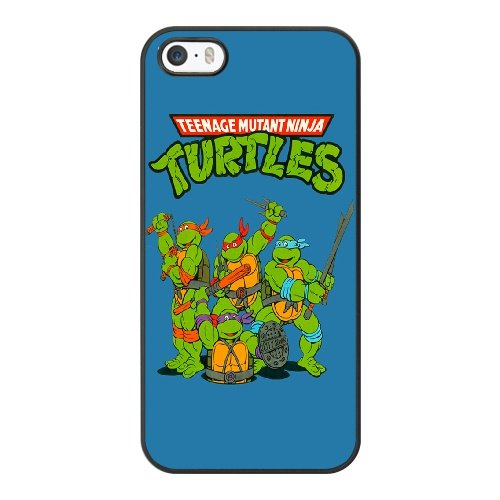 Coque,Coque iphone 5 5S SE Case Coque, Teenage Mutant Ninja Turtles Logo Cover For Coque iphone 5 5S SE Cell Phone Case Cover Noir