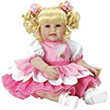 "Adora Toddler Ice Cream Party 20"" Girl Weighted Doll Gift Set for Children 6 Huggable Vinyl Cuddly Snuggle Soft Body Toy"