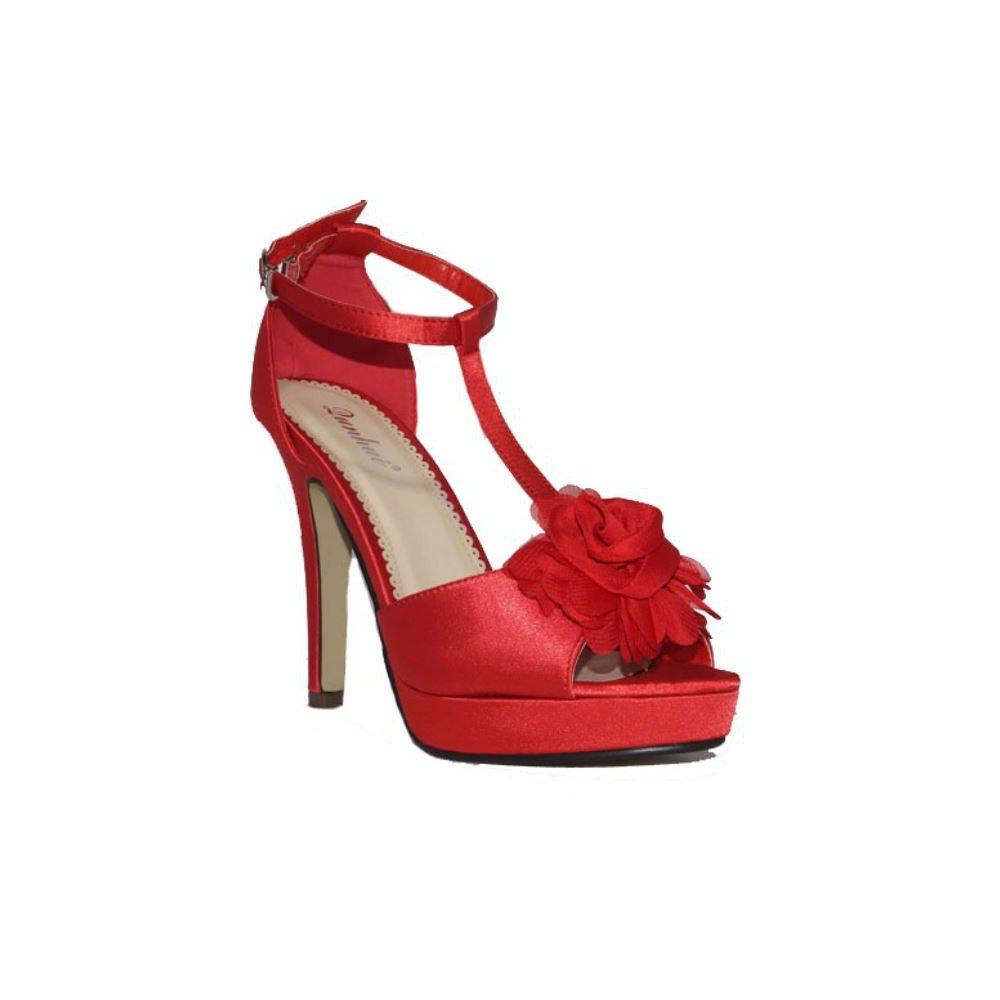 Qunhui Damen Stiefel & Stiefeletten Rot 2018 Letztes Modell  Mode Schuhe Billig Online-Verkauf