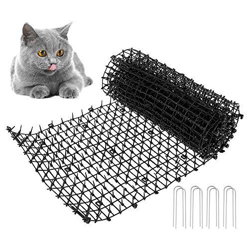 Prickle Strip Dig Stopper Cat Scat Mat Defender With Spikes Repellent Deterrent For Dog Cat Fox Bird Pigeon Garden Outdoor Protector (200CM x 28CM)