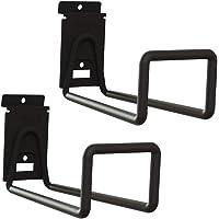 LIOOBO Suporte de parede para bicicletas, 2 peças, para guardar bicicletas na garagem (preto)