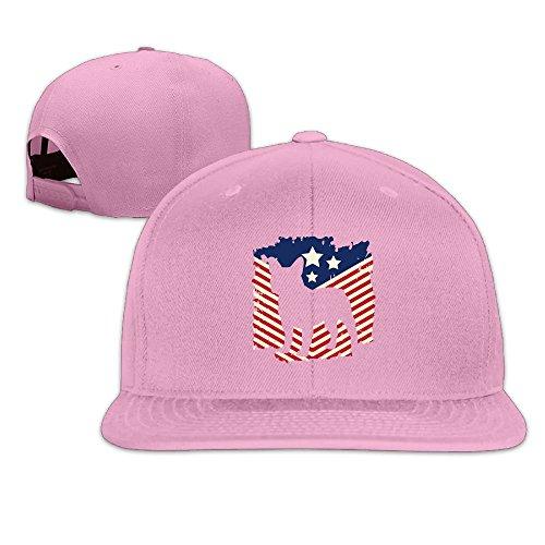 MAGIICAP Adult Trucker Cap, Classic Patriotic French Bulldog American Flag Adjustable Hip-Hop Flat-Bill Baseball Hat (American Dressing French)