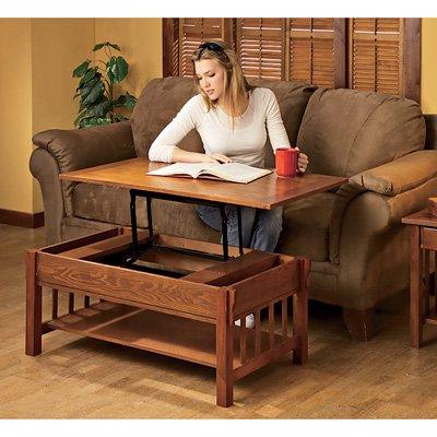 Amazon Com Kotulas Mission Style Oak Veneer Lift Top Coffee Table