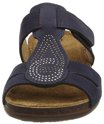 Fischer Inblu Pantolette - Mules Mujer Azul - Blau (521 marine)