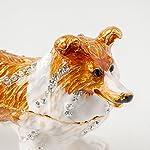 Apropos Vintage Style Hand-Painted Dog- English Shepherd Trinket Box 8