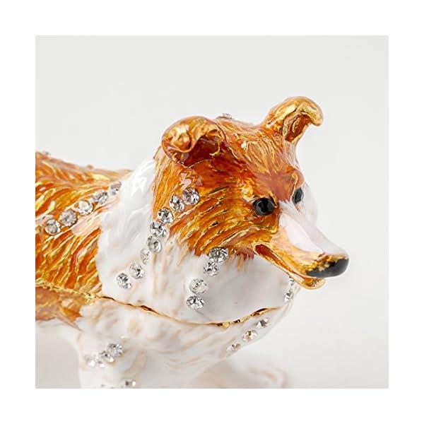 Apropos Vintage Style Hand-Painted Dog- English Shepherd Trinket Box 3