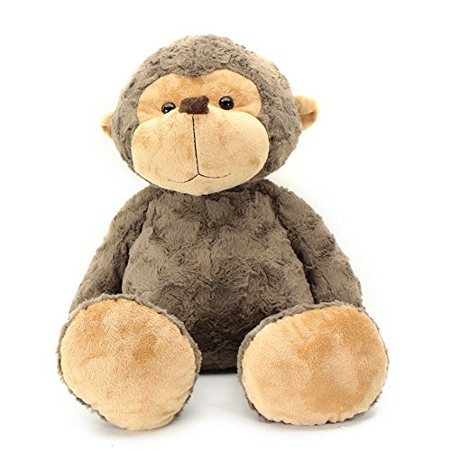 Super Soft and Huggable Large Size Cuddle Monkey Fur Plush Toy in Brown by Jumbo Biscuit Friends