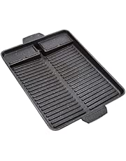 Portable Barbecue Grill Pan Fry Non-Stick Griddle Square Handle Barbecue Tray