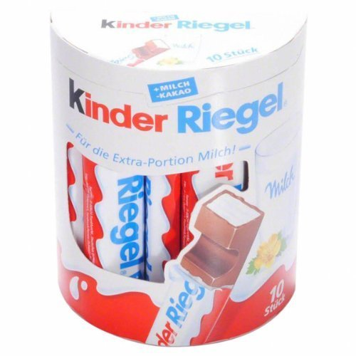 German Kinder Riegel Chocolate Bars - 1 x 10 pieces by Ki...