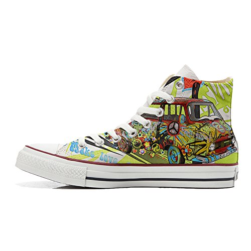 Adulte Customized produit Converse Artisanal And Peace Chaussures Love Coutume wB5Bdnxq6