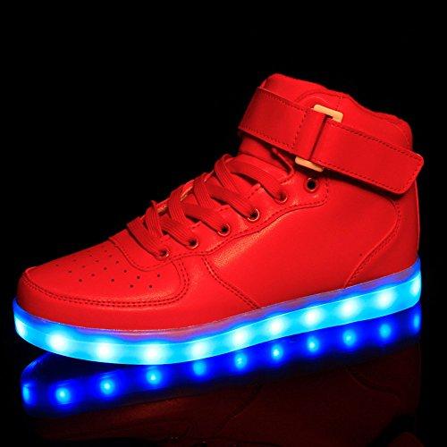 Baha Mut LED Shoes USB Charging Light Up Glow Shoes Women Fashion Couple Flashing Sports Shoes(women size tlZdHX6DN