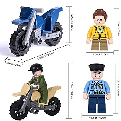 4 Motorcycle / Vehicle with 8 Army Building Blocks Play Set, Random Styles Motorcycle Occupation Military Toys Figures (Styles May Vary from Image): Toys & Games