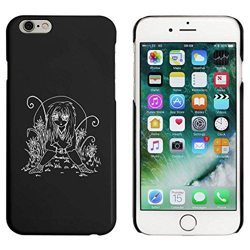 Noir 'Fille dans une Prairie' étui / housse pour iPhone 6 & 6s (MC00010965)