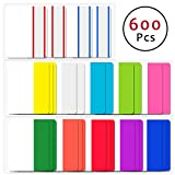 Sticky Index Tabs, 600 Pcs 2 inch 12 Color Tabs Page Markers Colored Tape Flag Page Tabs for Reading Notes/Books/File Folders