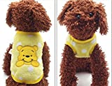 #4: New Cartoon Teacup Dog Clothing Baby Pet Clothes Puppy Winter Warm Thick Sweater (XXS, Yellow)
