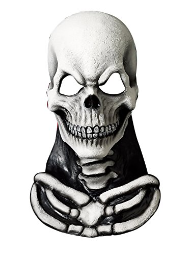 Skull Mask with Skeleton Chest Piece -