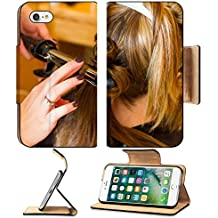 MSD Premium Apple iPhone 7 Flip Pu Leather Wallet Case A bride has her hair done by professional cosmetologist stylist at the wedding Image ID 24016413