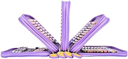 Newcomdigi Estuche escolar 72 lápices lápices de colores – estuche multiusos bolsa de lápiz para escuela oficina de (los lápices no están incluidos) – color rosa, color morado: Amazon.es: Oficina y papelería