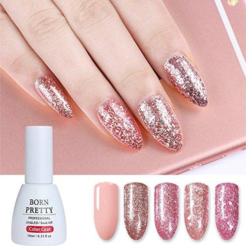Born Pretty 10ml Nail Art Glitter UV Gel Set Polish Shining