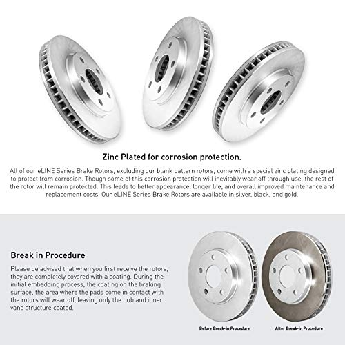 Ceramic Brake Pads For 1996-2003 Toyota RAV4 Front Brake Rotors Kit
