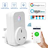 Smart Plug Socket UK Backture Timer Plug Wifi Switch Works with Amazon Alexa Echo App Remote Control Timer Home Appliance by IOS/Android Smartphone(Supports IFTTT)
