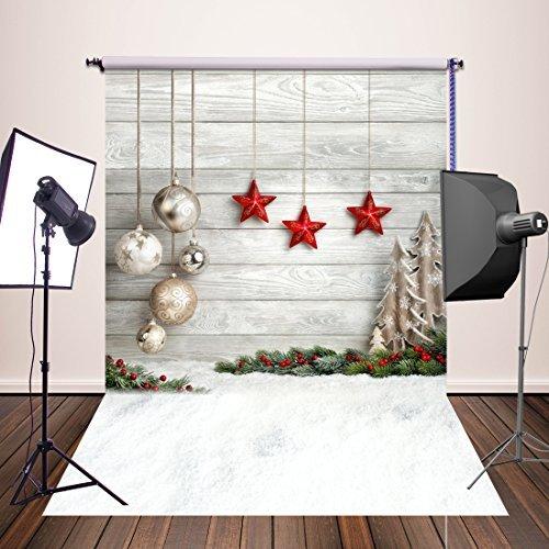 HUAYI 5x7ft Photography Backdrops Christmas Starts Background Newborn Photo Props YJ-345 -