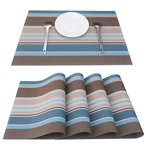 Set Of 4 Placemats, Placemats for Dining Table, Heat-resista