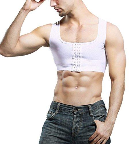 Body Erica Ning Masquer Chemise Minceur Compression Gynécomastie Hommes De White La Shaper Gilet 1EEq6dw