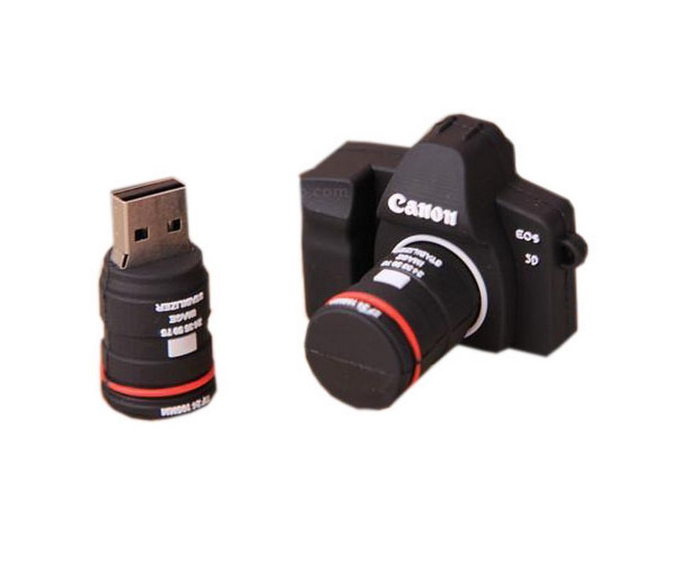 Creative Silicone Camera USB 2.0 Flash Drive 8GB by UE STORE (Image #1)