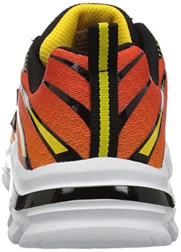 Charcoal Orange Skechers Nitrate Black Sneaker Mädchen Schwarz Cn6CqAtSw