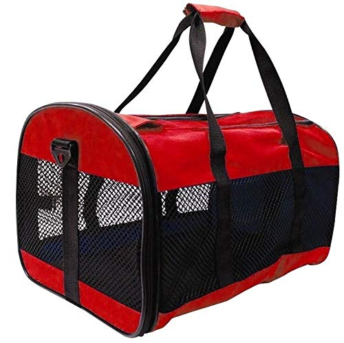Generic .SMALL DOG RA SMALL DOG AVEL RABBIT CARRIERS TRAVEL SMALL DOG R COLLAPSIBLE FOLD CAT S Red PET CARRIER ARR AWAY CAT CARRIER COL