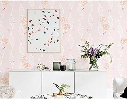 Rosa Fiori Camera dei bambini adesivi murali tessuto non ...
