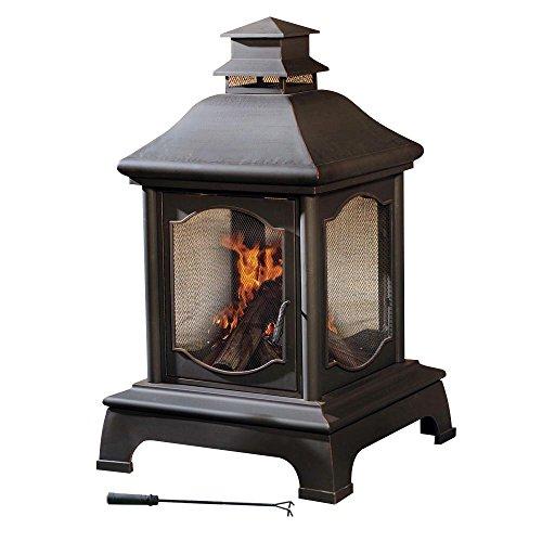 Sunjoy Lantern Style Steel 48'' Fireplace by sunjoy