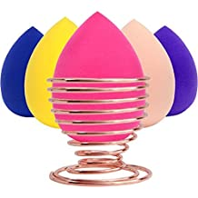 LIPRAP Makeup Sponge - 6 Pack Egg Beauty Blender Sponges and Holder Set - Blending with Cosmetic for Flawless Face - Liquid Foundation and Powders and Concealer - Prime and Real Sponge