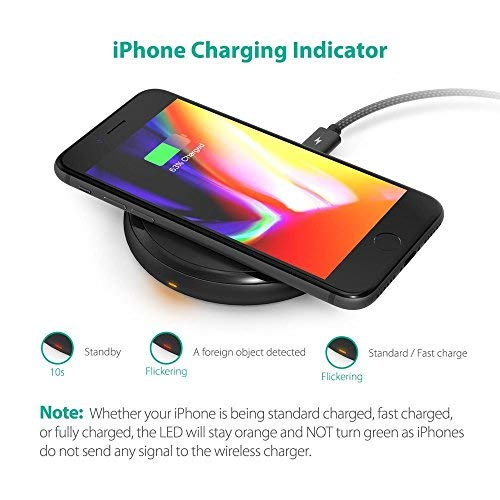 Fast Wireless Charger RAVPower 7.5W Compatible iPhone Xs MAX/XR/XS/X/8/8 Plus, with HyperAir, 10W Compatible Galaxy S9, S9+, S8, S7 & Note 8 and All Qi-enabled Devices (QC 3.0 Adapter Included) by RAVPower (Image #7)