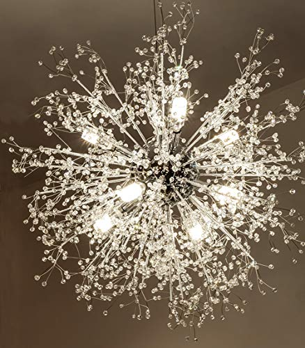 GDNS Contemporary Firework Crystal Chandeliers,Pendant Lighting,Ceiling Lights Fixtures for Living Room Bedroom Restaurant Porch (Sparkly Light Fixture)