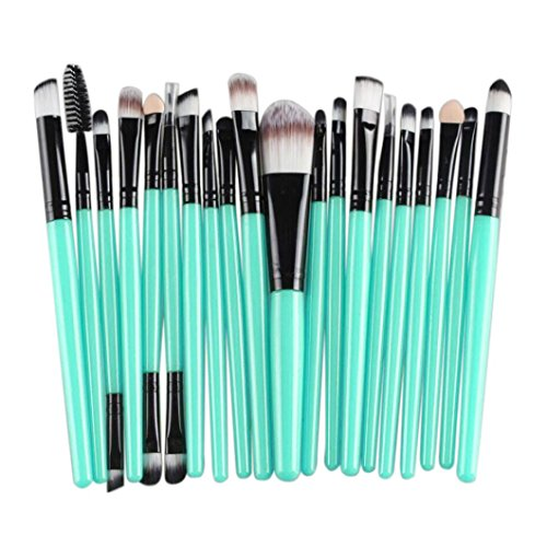 Hunputa 20 pcs Makeup Brush Set tools Make-up Toiletry Kit Wool Make Up Brush Set (Black)