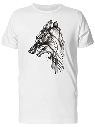 05ea5478c Amazon.com: Angry Wolf Sketch, Vintage Tee Men's -Image by Shutterstock:  Clothing