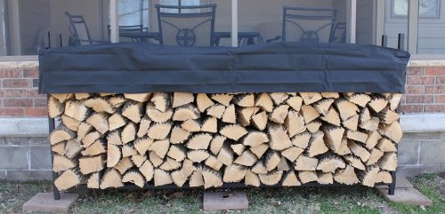Pioneer 8' Firewood Rack with Cover by Pioneer