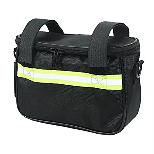 - Ezyoutdoor Multi-usage Cycling Bike Bicycle Front Basket Handlebar Bag Shoulder Bag for Riding Travel Picnic Medium Size