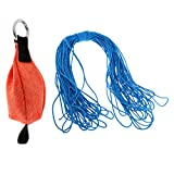 Baoblaze 250g/8.8 oz Outdoor Climbing Tree Arborist Rigging Throw Weight Bag Pouch with 20m/66ft Blue Throw Line Rope Cord