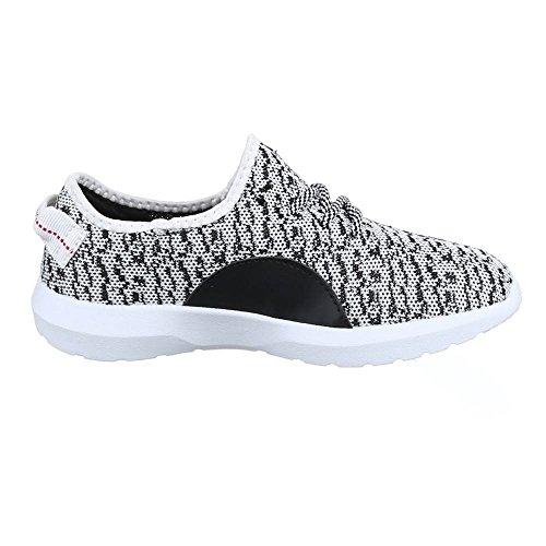 Ital-Design - Zapatillas Hombre Blanco - Weiß Grau