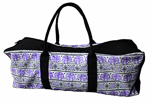 TimíGear Canvas Yoga Mat Duffel Bag with Inside Pocket, (Royalty)