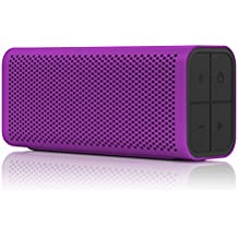 BRAVEN 705 Portable Wireless Bluetooth Speaker [12 Hours][Water Resistant] Built-In 1400 mAh Power Bank Charger - Purple (Renewed)